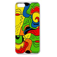 Mexico Apple Seamless Iphone 5 Case (clear) by Valentinaart