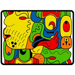 Mexico Double Sided Fleece Blanket (large)  by Valentinaart