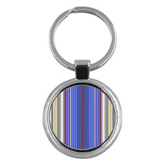 Colorful Stripes Key Chains (round)  by Simbadda