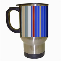 Colorful Stripes Travel Mugs (white) by Simbadda