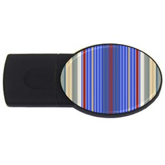 Colorful Stripes Usb Flash Drive Oval (4 Gb) by Simbadda