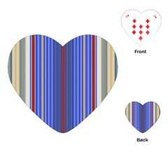 Colorful Stripes Playing Cards (heart)  by Simbadda