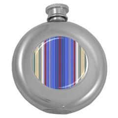 Colorful Stripes Round Hip Flask (5 Oz) by Simbadda