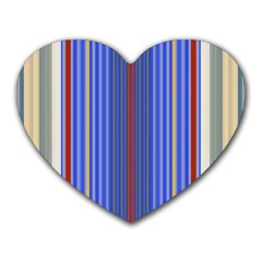 Colorful Stripes Heart Mousepads by Simbadda