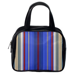 Colorful Stripes Classic Handbags (one Side) by Simbadda