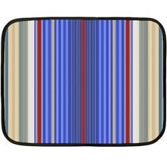 Colorful Stripes Double Sided Fleece Blanket (mini)  by Simbadda