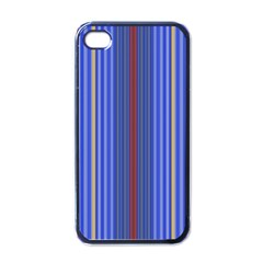 Colorful Stripes Apple Iphone 4 Case (black) by Simbadda