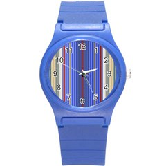Colorful Stripes Round Plastic Sport Watch (s) by Simbadda
