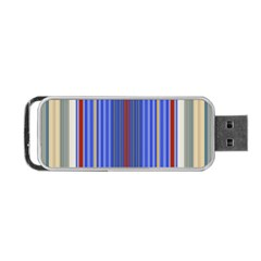 Colorful Stripes Portable Usb Flash (two Sides) by Simbadda