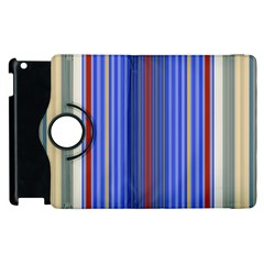 Colorful Stripes Apple Ipad 3/4 Flip 360 Case by Simbadda