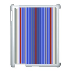 Colorful Stripes Apple Ipad 3/4 Case (white) by Simbadda