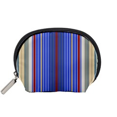 Colorful Stripes Accessory Pouches (small)  by Simbadda