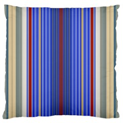 Colorful Stripes Large Flano Cushion Case (two Sides) by Simbadda