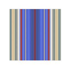 Colorful Stripes Small Satin Scarf (square) by Simbadda