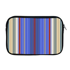 Colorful Stripes Apple Macbook Pro 17  Zipper Case by Simbadda