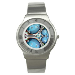 Fractal Beauty Stainless Steel Watch by Simbadda