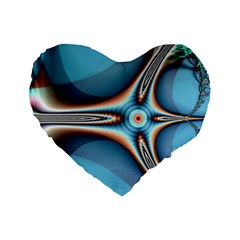 Fractal Beauty Standard 16  Premium Heart Shape Cushions by Simbadda
