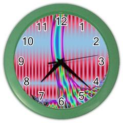 Fractal Tree Color Wall Clocks by Simbadda