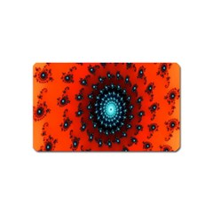 Red Fractal Spiral Magnet (name Card) by Simbadda