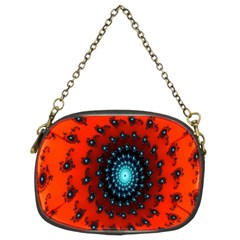 Red Fractal Spiral Chain Purses (two Sides)  by Simbadda