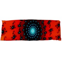 Red Fractal Spiral Body Pillow Case Dakimakura (two Sides) by Simbadda