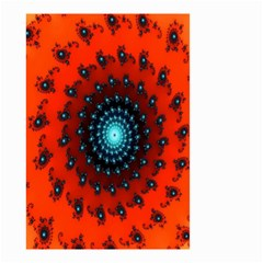 Red Fractal Spiral Small Garden Flag (two Sides) by Simbadda