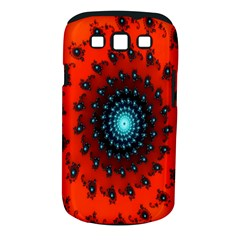 Red Fractal Spiral Samsung Galaxy S Iii Classic Hardshell Case (pc+silicone) by Simbadda