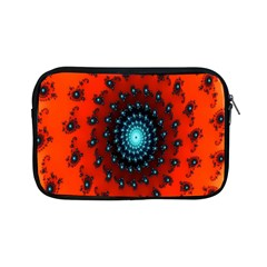 Red Fractal Spiral Apple Ipad Mini Zipper Cases by Simbadda