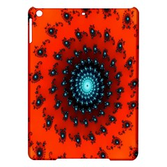 Red Fractal Spiral Ipad Air Hardshell Cases by Simbadda