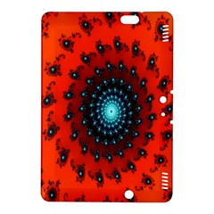 Red Fractal Spiral Kindle Fire Hdx 8 9  Hardshell Case by Simbadda