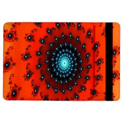 Red Fractal Spiral Ipad Air 2 Flip by Simbadda