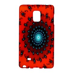 Red Fractal Spiral Galaxy Note Edge by Simbadda