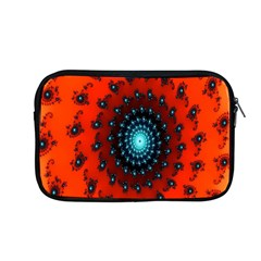 Red Fractal Spiral Apple Macbook Pro 13  Zipper Case by Simbadda