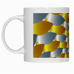 Fractal Spiral White Mugs by Simbadda