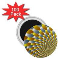 Fractal Spiral 1 75  Magnets (100 Pack)  by Simbadda