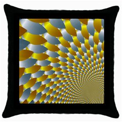 Fractal Spiral Throw Pillow Case (black) by Simbadda
