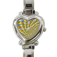 Fractal Spiral Heart Italian Charm Watch by Simbadda