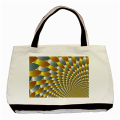Fractal Spiral Basic Tote Bag by Simbadda