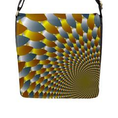 Fractal Spiral Flap Messenger Bag (l)  by Simbadda