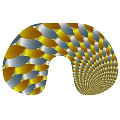 Fractal Spiral Travel Neck Pillows by Simbadda