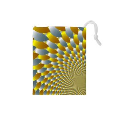 Fractal Spiral Drawstring Pouches (small)  by Simbadda