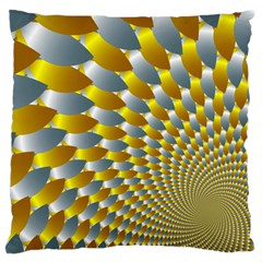 Fractal Spiral Large Flano Cushion Case (two Sides) by Simbadda
