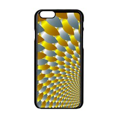 Fractal Spiral Apple Iphone 6/6s Black Enamel Case by Simbadda