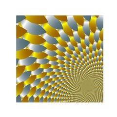 Fractal Spiral Small Satin Scarf (square) by Simbadda