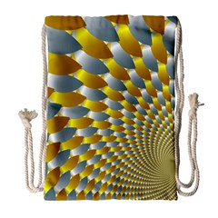 Fractal Spiral Drawstring Bag (large) by Simbadda