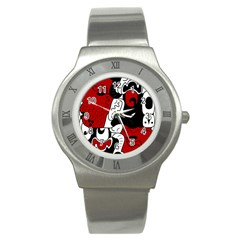 Mexico Stainless Steel Watch by Valentinaart