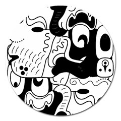 Mexico Magnet 5  (round) by Valentinaart