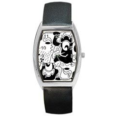 Mexico Barrel Style Metal Watch by Valentinaart