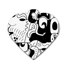 Mexico Dog Tag Heart (one Side) by Valentinaart