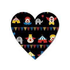 Circus  Heart Magnet by Valentinaart